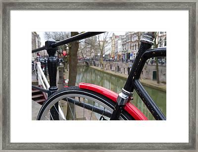 Red Mudguard Framed Print