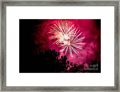 Framed Print featuring the photograph Red Night by Suzanne Luft