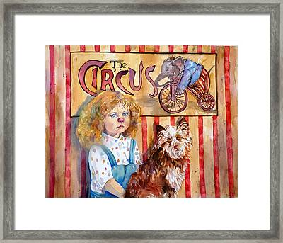 Red Nose Required Framed Print by P Maure Bausch