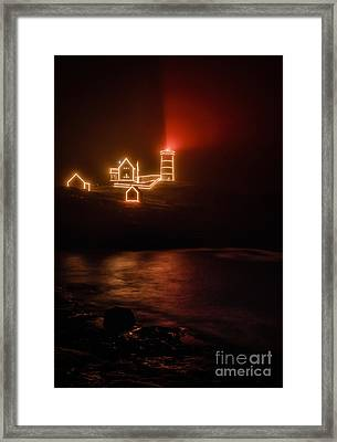 Red Nubble Framed Print