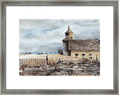 Red Oak Church Framed Print by Monte Toon