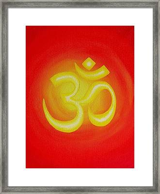 Red Om Framed Print by Michelle Eshleman