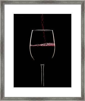 Red On Black Framed Print by Jerry Deutsch