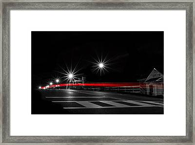 Red On Black Framed Print by Shelby  Young