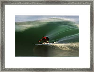 Red On Green  Mg_3785 Framed Print