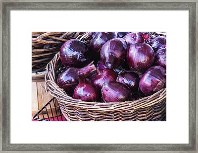 Red Onion Framed Print