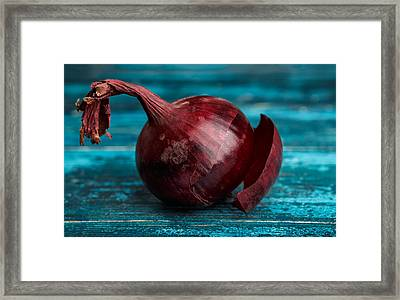 Red Onions Framed Print by Nailia Schwarz