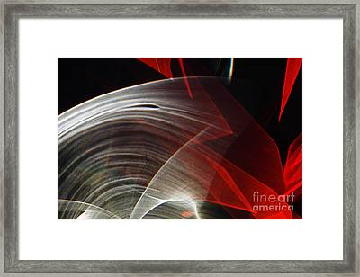 Red Optical Cut Glass Framed Print by Elena Lir-Rachkovskaya