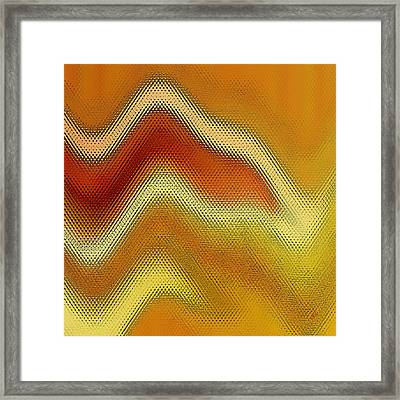 Red Orange And Yellow Glass Waves Framed Print by Ben and Raisa Gertsberg