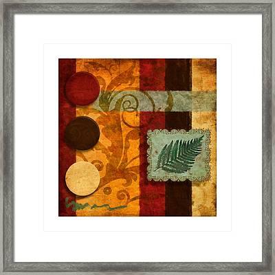 Red Orange Brown 1 Framed Print