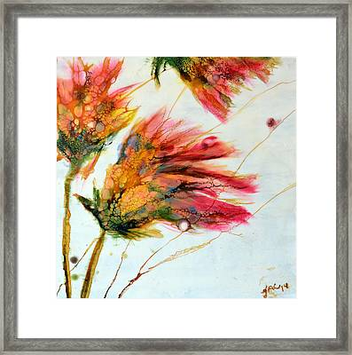 Red Orange Flowers Framed Print