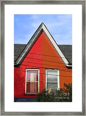 Framed Print featuring the photograph Red-orange House by Nina Silver