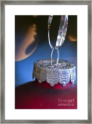 Red Ornament Framed Print by Birgit Tyrrell