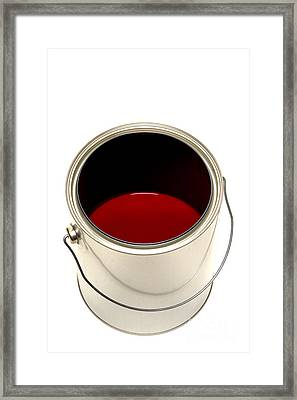 Red Paint Framed Print