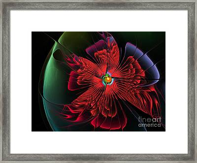 Red Passion Framed Print by Karin Kuhlmann