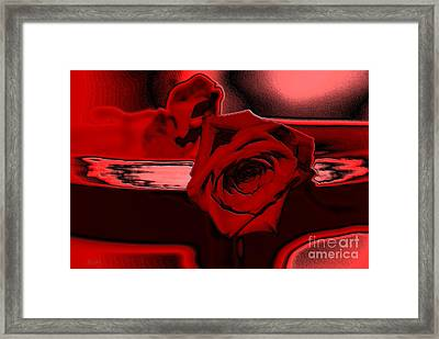 Red Passion. Rose Framed Print