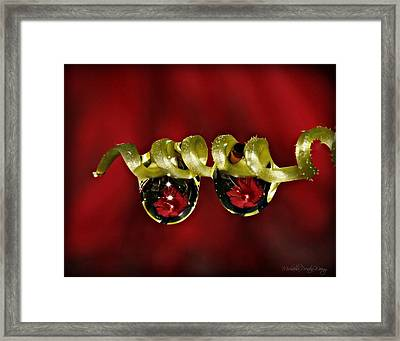 Red Pearls Framed Print by Michaela Preston