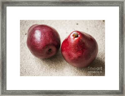 Red Pears Framed Print