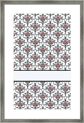 Red Peony Damask Framed Print