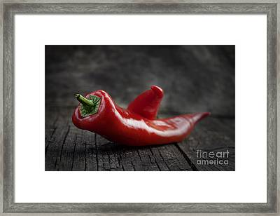 Red Pepper Framed Print by Mythja  Photography