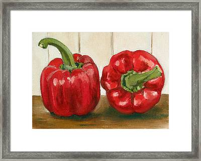 Red Pepper Framed Print by Sarah Lynch