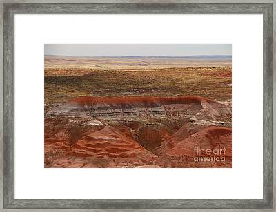 Red Petrified Dunes - Painted Desert Framed Print by Christiane Schulze Art And Photography