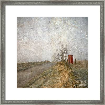 Red Phone Box Framed Print by Liz  Alderdice