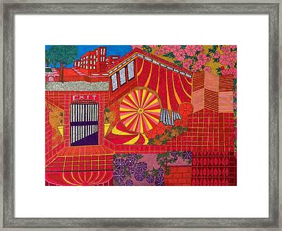 Red Pinwheel Framed Print