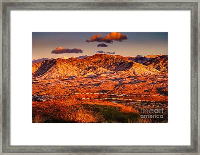 Red Planet Framed Print by Mark Myhaver