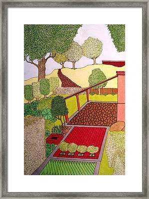 Red Planter Framed Print