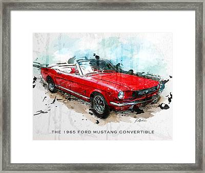 The Red Pony 2 Framed Print by Gary Bodnar