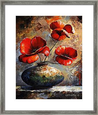 Red Poppies 02 Framed Print by Emerico Imre Toth