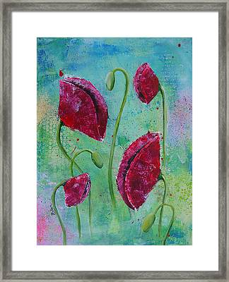 Red Poppies Framed Print by Bitten Kari