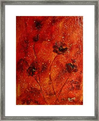 Red Poppies Framed Print by Robin Monroe