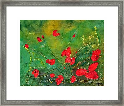 Red Poppies Framed Print by Teresa Wegrzyn