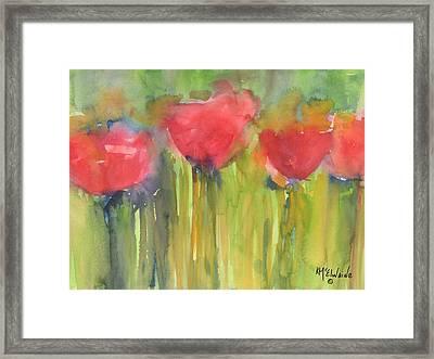 Red Poppy Elegance Framed Print