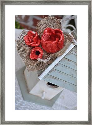 Red Poppy Inn Framed Print by Amanda  Sanford