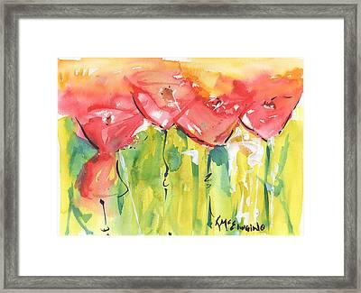 Red Poppy Party Framed Print