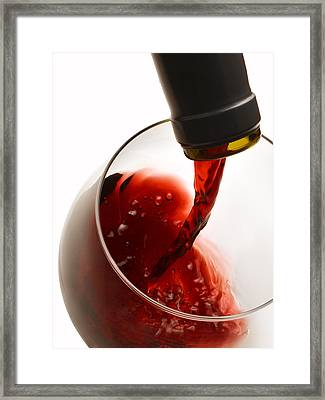 Red Pour Framed Print by Dennis James