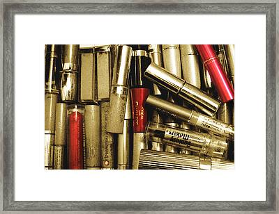 Red Promises Framed Print by Ginny Schmidt