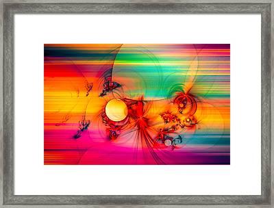 Red Rabbit Framed Print