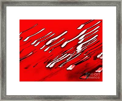 Red Racers Framed Print by Methune Hively