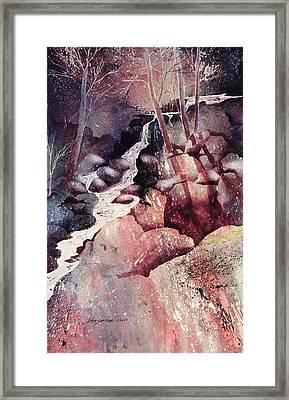 Red Ravine  Framed Print by John  Svenson
