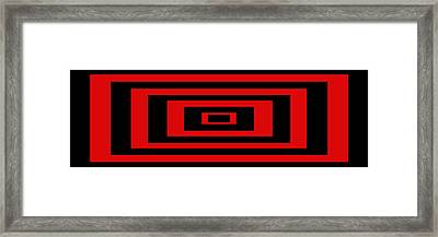 Red Rectangle Framed Print by Mike McGlothlen