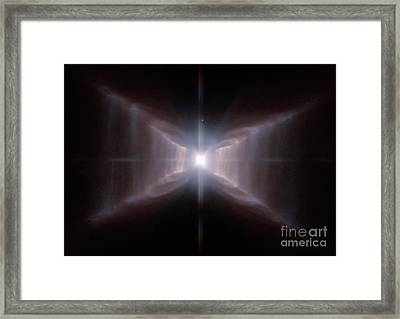 Red Rectangle Nebula Hd 44179 Framed Print by Science Source