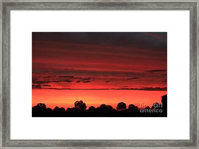 Red Red Sunrise Framed Print