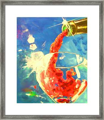 Red Red Wine 2 Framed Print by Marcello Cicchini