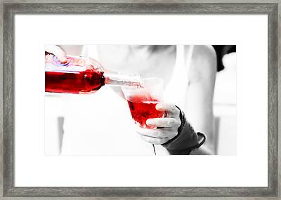 Red Red Wine Framed Print by Jenny Rainbow