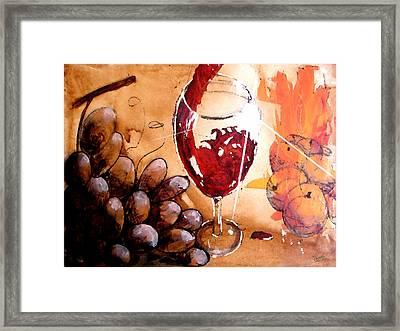 Red Red Wine Framed Print
