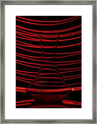 Red Rhythm Framed Print by Davorin Mance